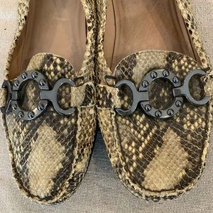 Stuart Weitzman loafers.